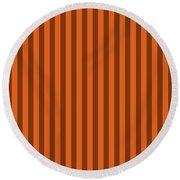 Mango Orange Striped Pattern Design Round Beach Towel