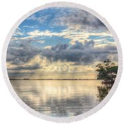 Mangrove Mirrored Dreams Round Beach Towel
