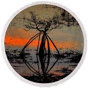 Mangrove Silhouette Round Beach Towel