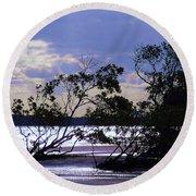 Mangrove Silhouettes Round Beach Towel