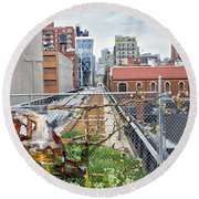 Manhattan High Line Round Beach Towel