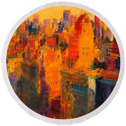 Manhattan Round Beach Towel