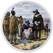 Manhattan Purchase, 1626 Round Beach Towel