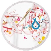 Mania Abstract Round Beach Towel