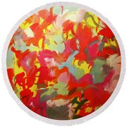 Manifest Destiny Round Beach Towel