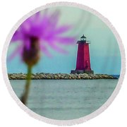 Manistique Round Beach Towel