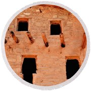 Manitou Cliff Dwellings Colorado Springs Round Beach Towel