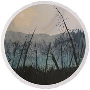 Manitoulin Beaver Meadow Round Beach Towel