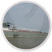 Manitoulin On The Maumee River Round Beach Towel