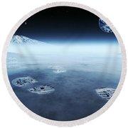 Mankind Exploring Space Round Beach Towel