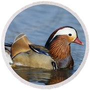 Manny Afloat Round Beach Towel