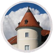 Manor House Tower Round Beach Towel