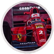 Mansell Ferrari 641 Round Beach Towel