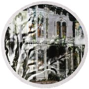 Mansion Of Obsession Round Beach Towel