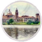Mantua Round Beach Towel