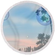 Many Moons Round Beach Towel