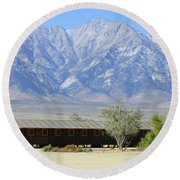 Manzanar A Blight On America 1 Round Beach Towel