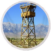 Manzanar A Blight On America 2 Round Beach Towel