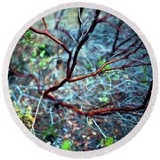 Manzanita Abstract Round Beach Towel