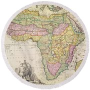 Map Of Africa Round Beach Towel
