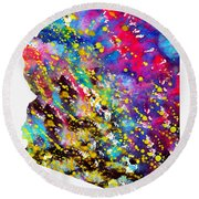 Map Of Arizona-colorful Round Beach Towel