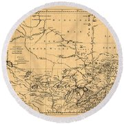 Map Of Canada 1762 Round Beach Towel