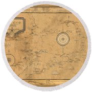 Map Of Cape Cod 1931 Round Beach Towel