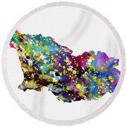 Map Of Georgia-colorful Round Beach Towel