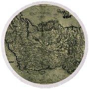 Map Of Ireland 1771 Round Beach Towel