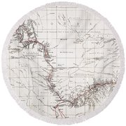 Map Of Livingstones Route Across Round Beach Towel