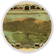 Map Of Oakland 1900 Round Beach Towel