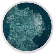 Map Of San Francisco 1857 Round Beach Towel