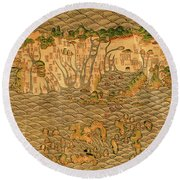 Map Of Taiwan 1700 Round Beach Towel