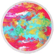 Map Of The Inconstant Heart Round Beach Towel