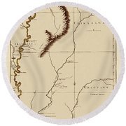 Map Of The Mississippi Riverr 1775 Round Beach Towel