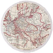 Map: Thirty Years War Round Beach Towel