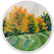 Maple Grove Round Beach Towel