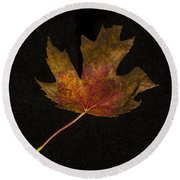 Maple Leaf Round Beach Towel