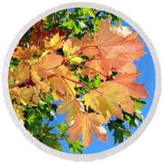 Maple Mania 1 Round Beach Towel
