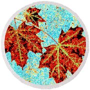 Maple Mania 13 Round Beach Towel