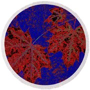 Maple Mania 15 Round Beach Towel