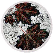 Maple Mania 17 Round Beach Towel