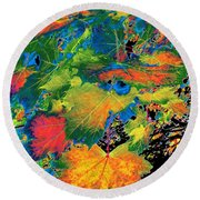 Maple Mania 3 Round Beach Towel