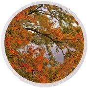 Maple Over The River Round Beach Towel