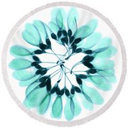 Maple Seeds X-ray Round Beach Towel
