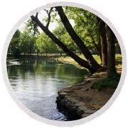 Maramec Springs 5 Round Beach Towel