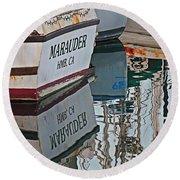 Marauder Reflection Round Beach Towel