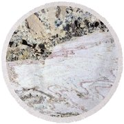 Marble Black Tan Pink Round Beach Towel