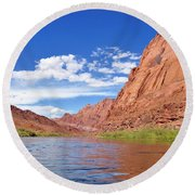 Marble Canyon Walls Round Beach Towel