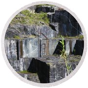 Marble Quarry  Round Beach Towel
